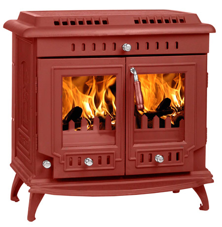 Red--painted-stove